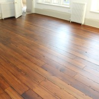 Pine Floorboard Sanding staining with Teak colour and finishing with 2 coats of Hardwax-Oil 2