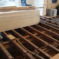 Fix all louse joist and prepare to fit insulation boards