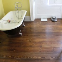 Nunney Court Pine Floorbords after renovation