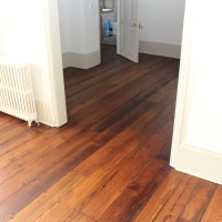 Pine Floorboard Sanding staining with Teak colour and finishing with 2 coats of Hardwax-Oil 3