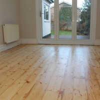 Pine Floorboards Clear varnish