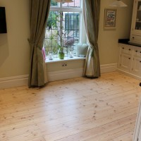Pine Floorboards finish with white reaction stain 1