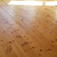 Pine Floorboards finishing with Semi-Mat Lacquer