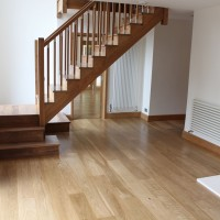 Solid Oak after renovation and finishing with Induro XL1 from Morrels Semi-Mat 5