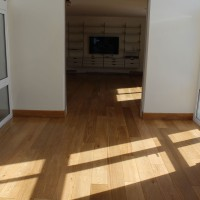 Solid Oak after renovation and finishing with Induro XL1 from Morrels Semi-Mat