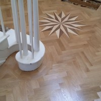 Supply and Fit Parquet Solid Oak with double bourder and Medalion 2