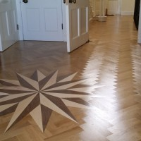 Supply and Fit Parquet Solid Oak with double bourder and Medalion 3