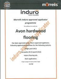 floor fitting certificate