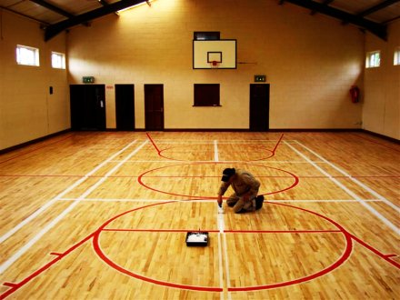 sports hall floor replacement