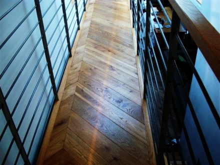 balcony wood floor and stairs