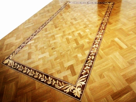 Wood floor borders bristol flooring services in bristol Hardwood floor designs borders