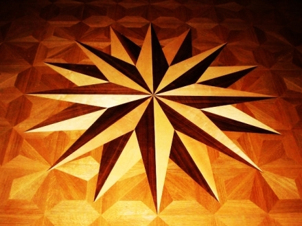 wood floor medallion