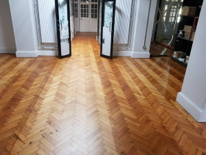 Parquet floor fitting at Bristol Central Library