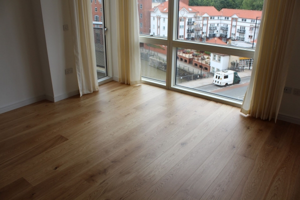 Engineered wood floor fitting